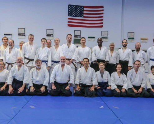 T.Toyoda Sensei at Joshinkan Dojo (Cary, NC) in August 2014.