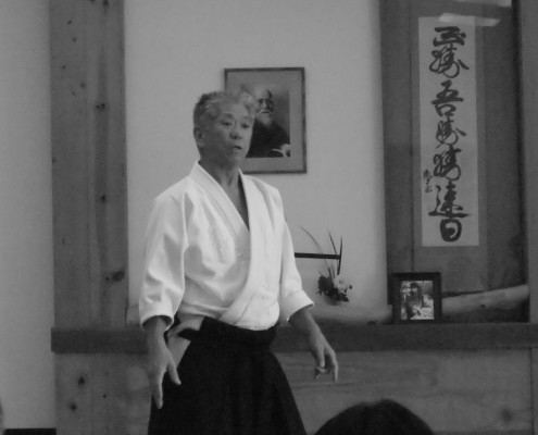 Aikido sensei James Nakayama teaching at Orange County Aikikai.